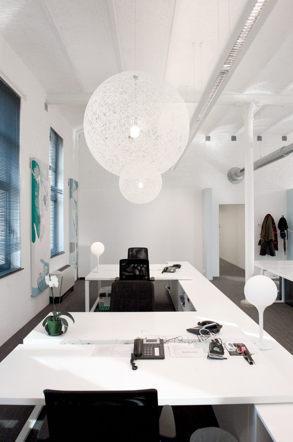 white offices