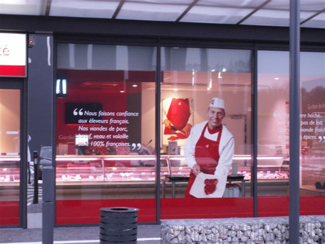 vitrine slagerij Renmans